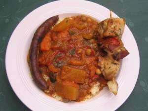 Buffet Marocain (Couscous Brochette Merguez)