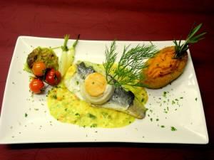Filet Bar Et Sole Aux Pts Legumes Saffrané