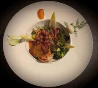 Salade Tiede De Pintadeau à L\'orange